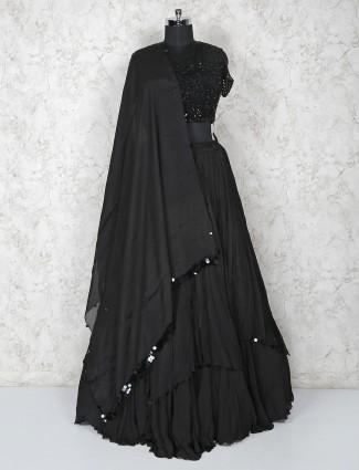 Black georgette pretty lehenga choli