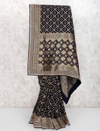 Black hue banarasi silk wonderful saree