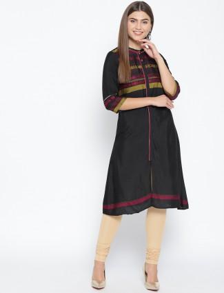 Black hue cotton casual wear kurti
