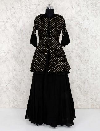 Black lehenga suit for party