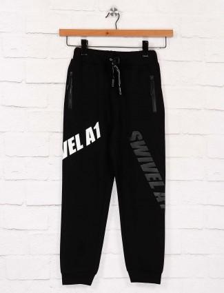Black printed cotton fabric payjama