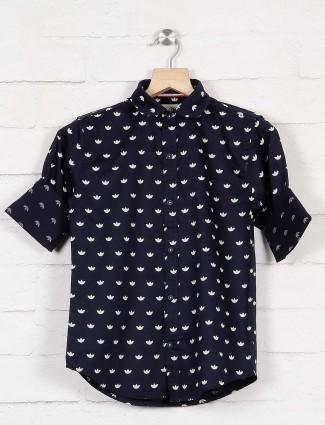 Blazo presented navy printed shirt