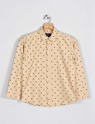 Blazo printed beige cotton shirt