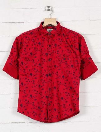 Blazo printed maroon hue boys shirt