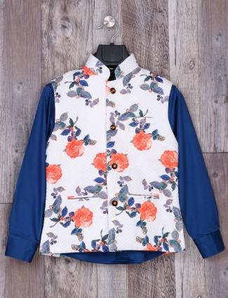 Blue and white hue waistcoat