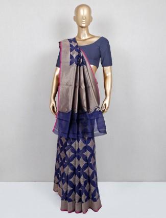 Blue festive wear saree for women