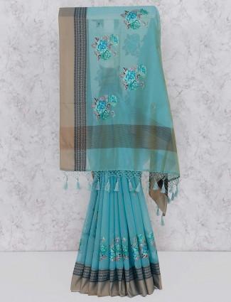 Blue hue elegant saree