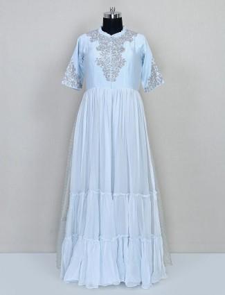 Blue wedding wear salwar suit