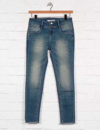 Boom blue color washed denim jeans