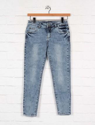 Boom light blue denim jeans for casual wear