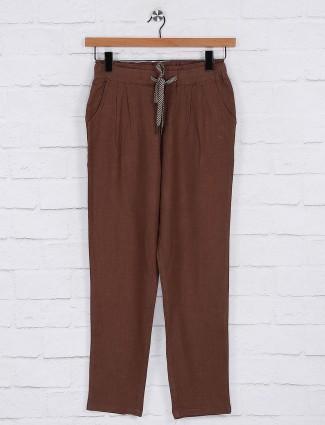 Brown color pyjama for women
