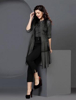 Casual wear black kurti set