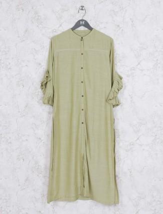 Casual wear kurti in green color