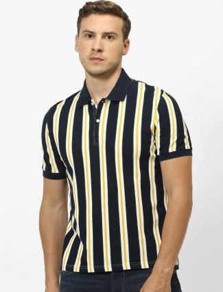 Celio black stripe cotton t-shirt