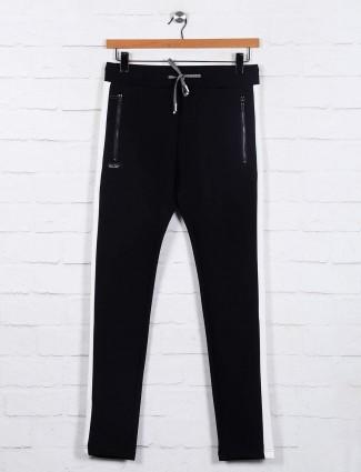 Chopstick black mens cotton track pant