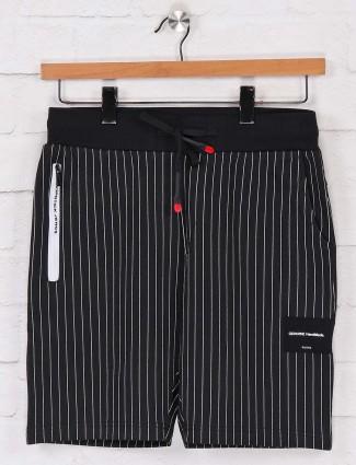 Chopstick black stripe cotton shorts