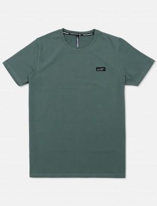 Chopstick casual solid green t-shirt