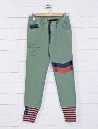 Cityboy Olive设计师纯色牛仔裤