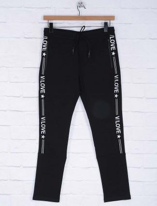 Cookyss cotton black color track pant