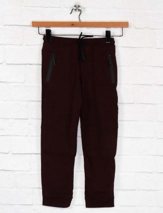 Cookyss maroon color solid payjama