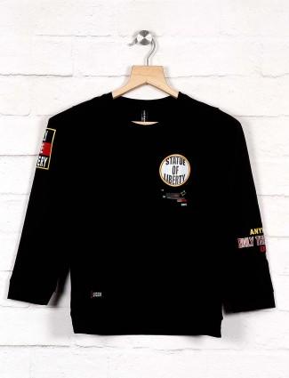 Cookyss printed black hue sweatshirt