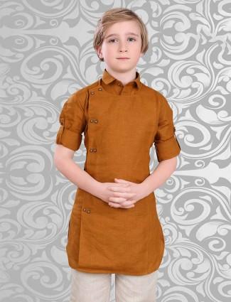 Cotton fabric orange short pathani