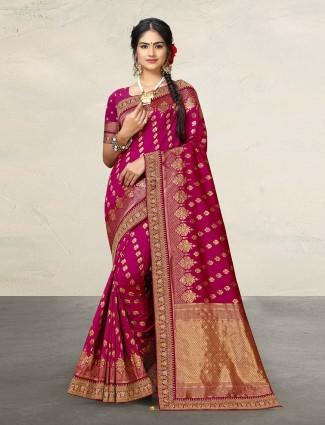 Cotton silk purple adorable saree