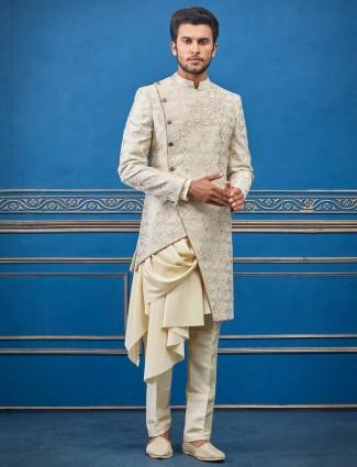 奶油毛圈人造丝设计师削减风格印度西部