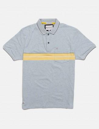 Crossknit presented solid grey t-shirt