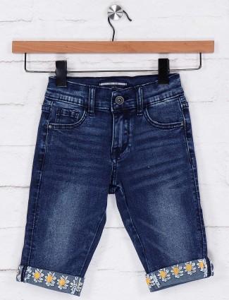 Deal casual dark blue shorts in denim