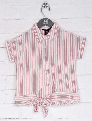 Deal casual wear pink stripe top