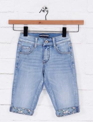 Deal denim blue casual shorts for little girl