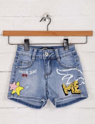 Deal denim blue girls shorts