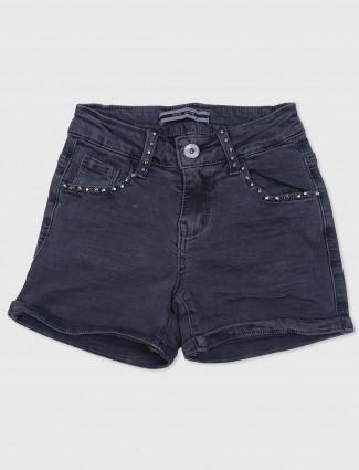 Deal grey color jeans in denim