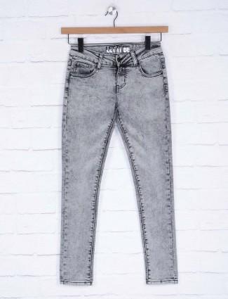 Deal grey hue denim slim fit jeans