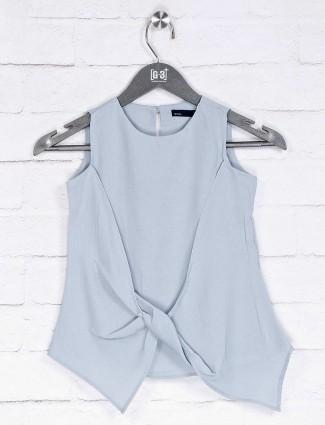 Deal grey solid designer top