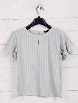 Deal pista green stripe top