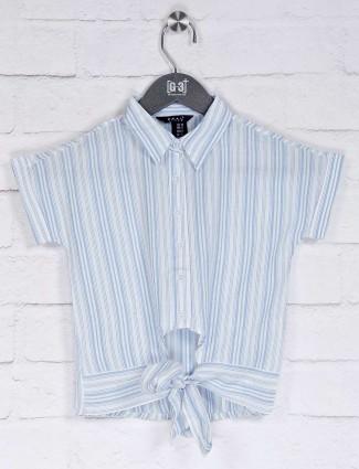 Deal sky blue stripe cotton top