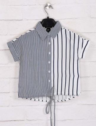 Deal stripe cotton white top