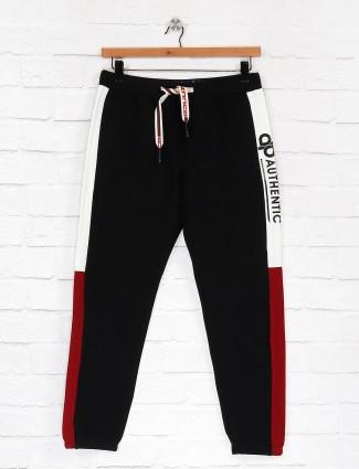 Deepee black hue solid track pant