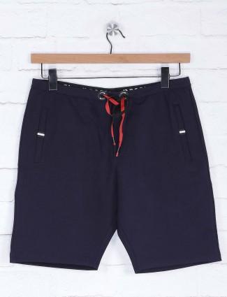 Deepee navy hued solid shorts