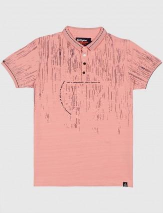 Deepee pink hued printed t-shirt