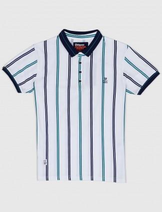 Deepee white hued stripe t-shirt
