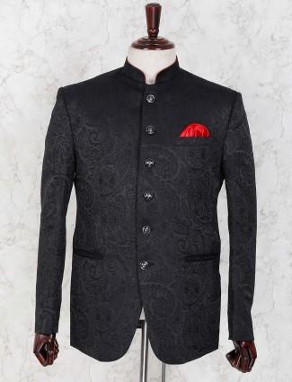 Designer black hue embroidared jodhpuri blazer