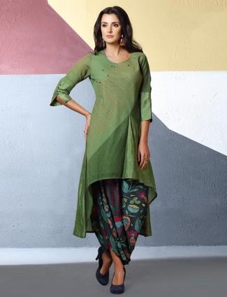 Designer kurti set in green