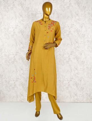 Designer mustard yellow punjabi salwar suit