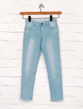 EBONY蓝色色调牛仔休闲服牛仔裤