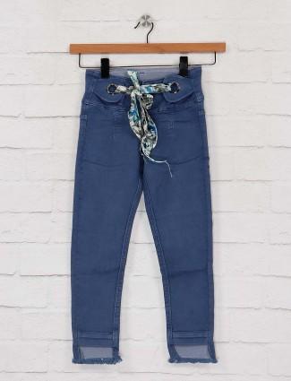 EBONY blue skinny fir denim casual jeans