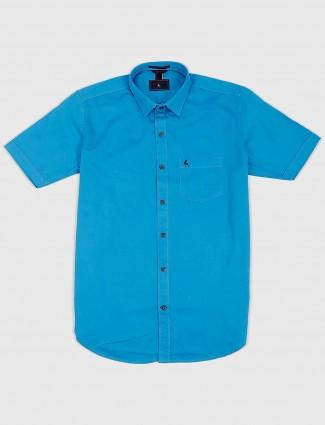 EQIQ aqua solid slim fit mens shirt