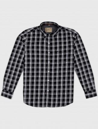 EQIQ black checks casual wear shirt